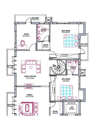 Third Floor Plan Template