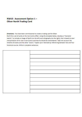 Trading Card Sheet