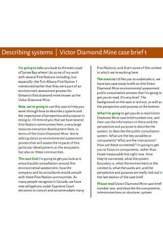 Victor Diamond Mine Case Brief