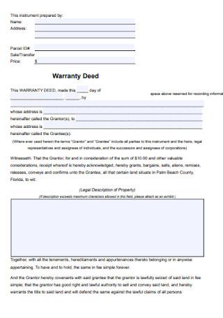 Warranty Deed Format