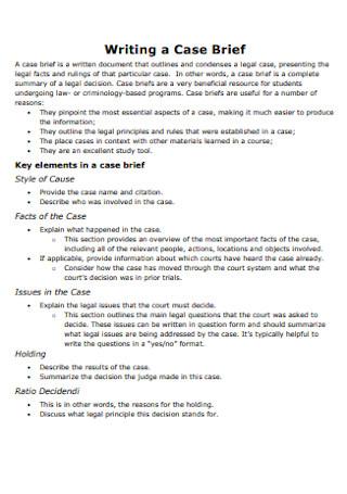 Writing Skills Case Brief