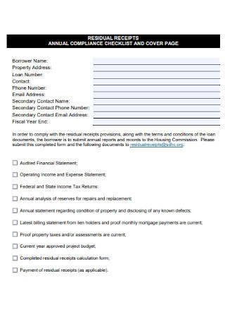 Annual Complaince Checklist