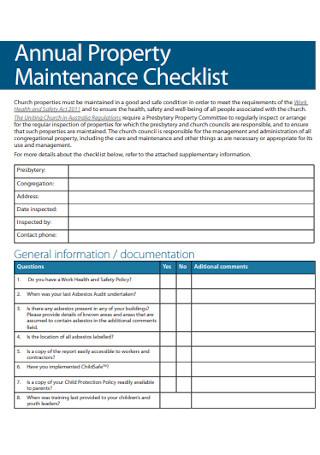 Annual Property Maintenance Checklist
