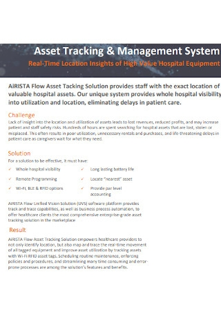 Asset Tracking and Management System