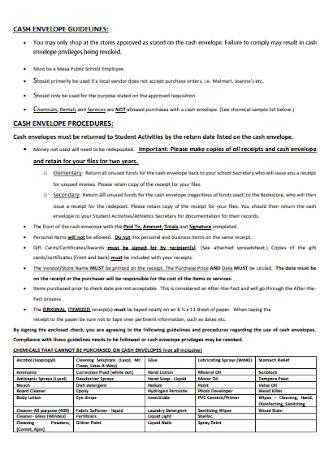Basic Cash Envelope Template