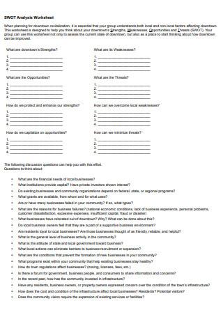 Basic SWOT Analysis Worksheet
