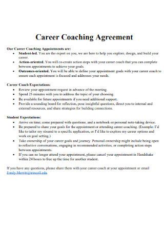Career Coaching Agreement