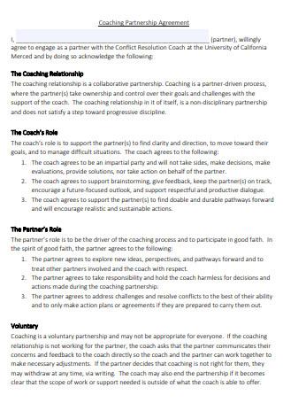 Coaching Partnership Agreement