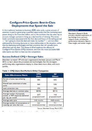 Configure Price Quote