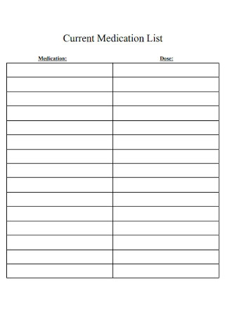 Current Medication List