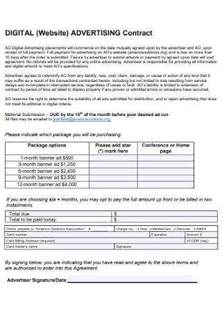 Digital Advertising Contract