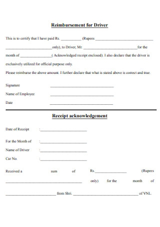 Driver Salary Receipt