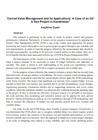 Earned Value Management and its Applications
