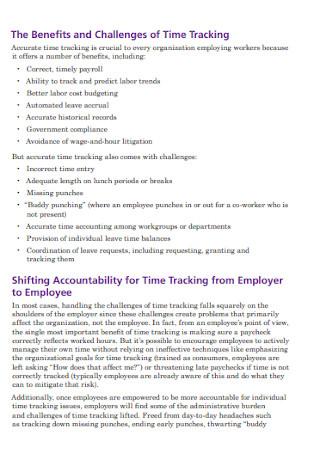 Employee Managed Time Tracking