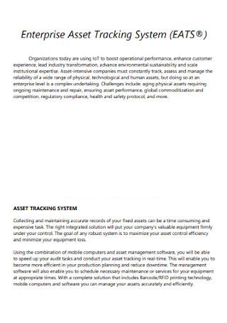 Enterprise Asset Tracking