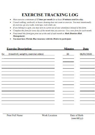 Exercise Tracking Log