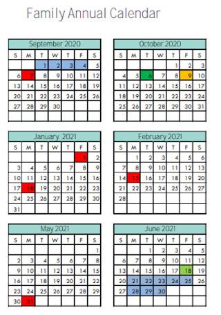 Family Annual Calendar