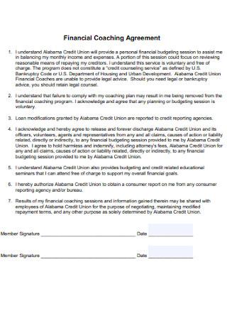 Financial Coaching Contract