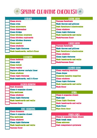 Formal Spring Cleaning Checklist