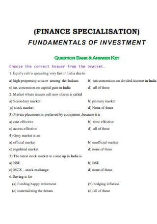 Fundamentals of Investment Receipt