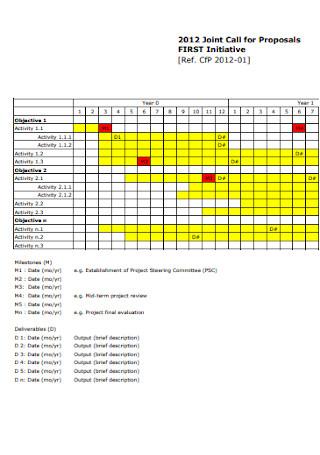 Gantt Proposal Chart