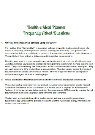 Health e Meal Planner