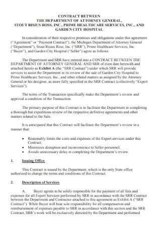 Hospital Payment Contract
