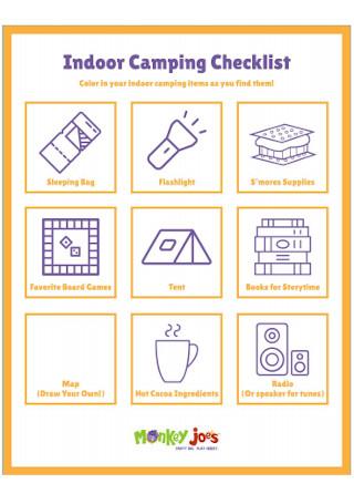 Indoor Camping Checklist