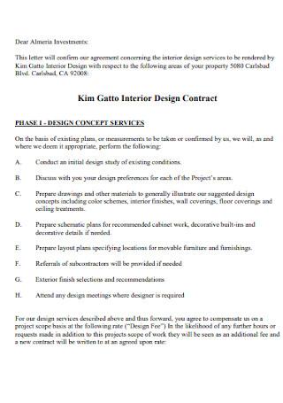 Interior Design Contract Format