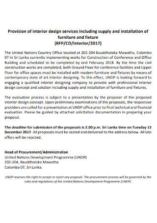 Interior Design Services Contract