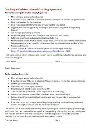 Internal Coaching Agreement