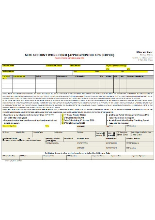 New Account Work Form