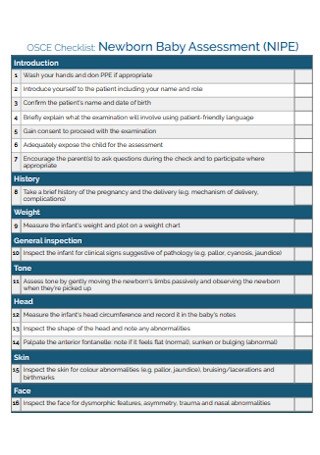 Newborn Baby Assessment Checklist1