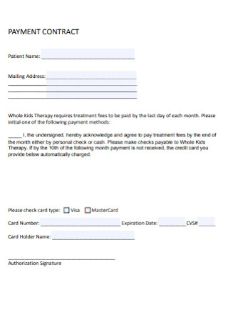 Payment Contract Format