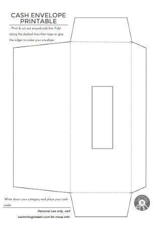 Printable Cash Envelope