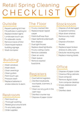 Retail Spring Cleaning Checklist