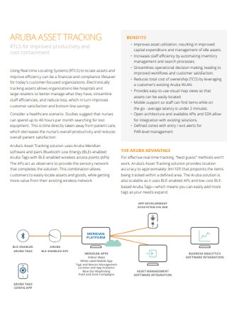 Sample Asset Tracking