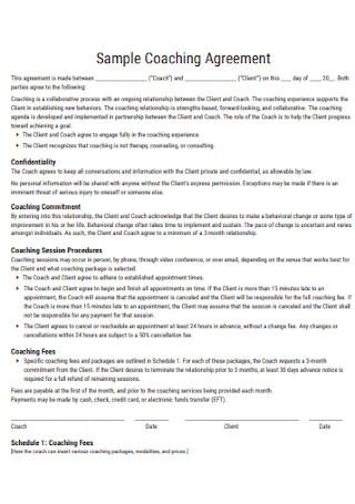 Sample Coaching Agreement