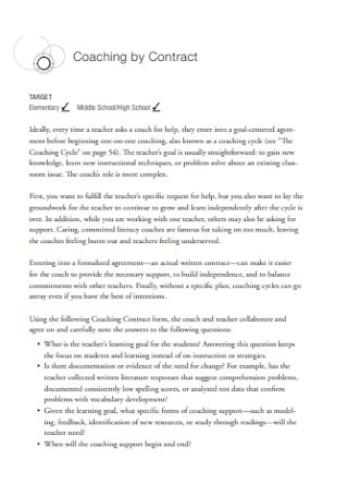 School Coaching by Contract