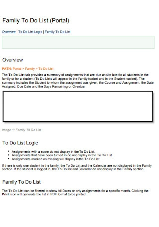 Simple Family To Do List