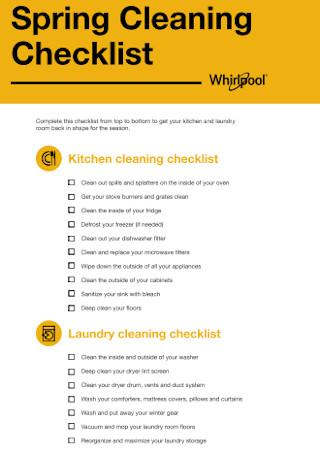 Spring Kitchen Cleaning Checklist
