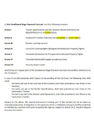 Stage Payment Contract
