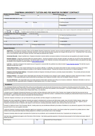 Tution Fee Payment Contract