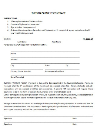 Tution Payment Contract