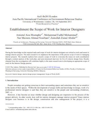 Work for Interior Designer Contract