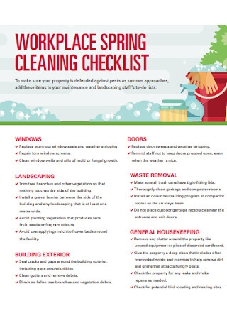 Workplace Spring Cleaning Checklist