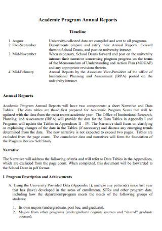 Academic Program Annual Reports