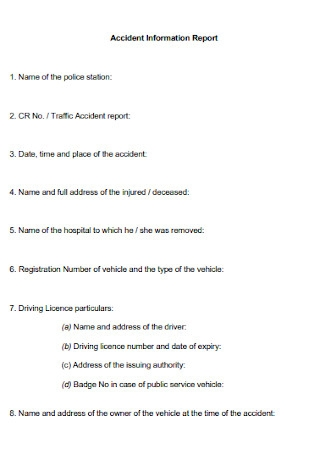 Accident Information Report