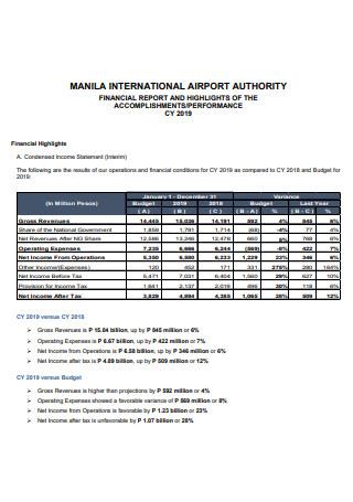 Accomplishment Performance Financial Report