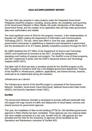 Accomplishment Report in PDF